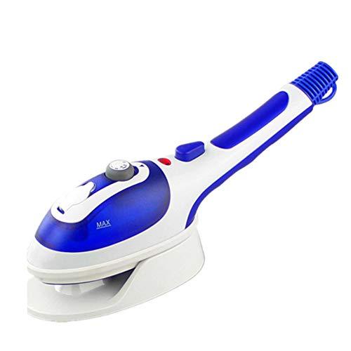 Plancha Vapor Vertical Portatil 800W Capacidad 180ml Para Hogar O Viaje Elimina Arrugas Olores Y Desinfecta Tercera Velocidad De Vapor(Blue)