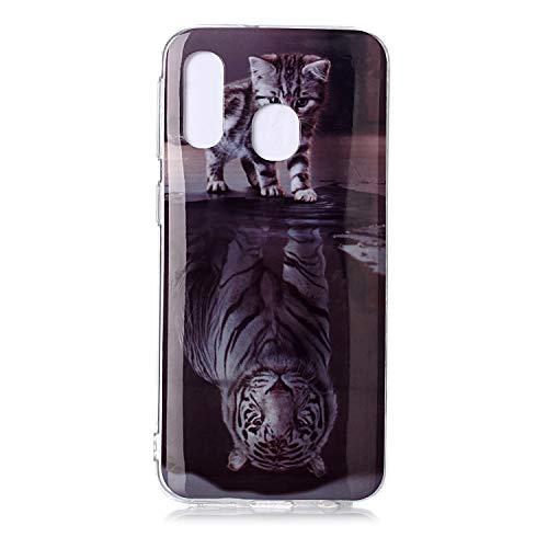 Bling Glitzer weich Hülle für Huawei Y6 2019 /Honor 8A,Kreative Klar Durchsichtiges Transparent Flexible Sparkle Quicksand Rückseite Beschützer