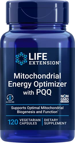 Life Extension Mitochondrial Energy Optimizer with PQQ – Benefits the Body by Energizing Every Cell – Gluten-Free, Non-GMO, Vegetarian – 120 Capsules