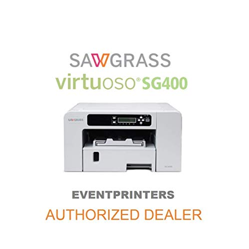 SAWGRASS Virtuoso SG400 Sublimationsdrucker. Sawgrass Sublijet HD-Tinten-Set, inklusive 110 Blatt Sublimationspapier Made in Japan