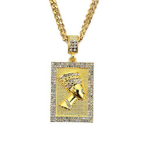 Modow Collar Colgante de Acero Inoxidable Hip Hop Antiguo Fa