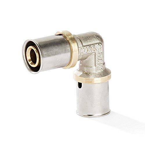 16er Pressfitting - Winkel 90° für Aluverbundrohr, Pressfitting 16x2, DVGW