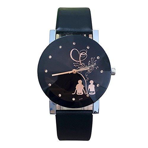 Herren Damen Freundschafts Armbanduhr, Casual Analog Quarz Zeitloses Design klassisch Uhr für Lieben Valentinstag Paar Paare Geschenk