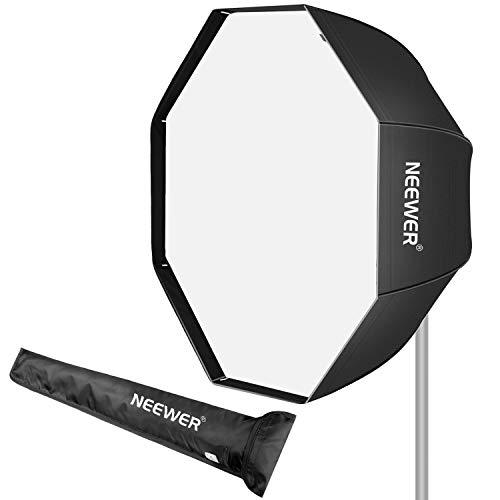 Neewer 95cm Softbox Ottagonale con Borsa di Trasporto, Compatibile con Speedlite & Flash da Studio, Softbox Ombrello Portatile per Fotografia di Ritratti & Prodotti