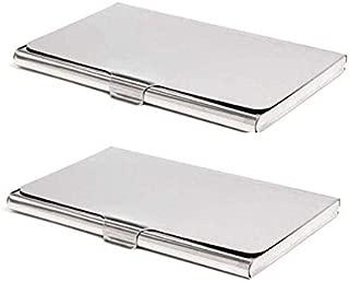 Ensure sales Silver Credit Card Holder,Business Card case Holder,ID Card Case(Pack 2)