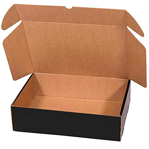 packer PRO Pack 25 Cajas Carton Envios para Ecommerce y Regalo Negras Automontable, Grande 40x30x8cm