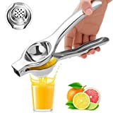 Exprimidor de limón, manual de exprimidor de limón, prensador de lima, acero inoxidable para exprimir a mano, limón y cítricos