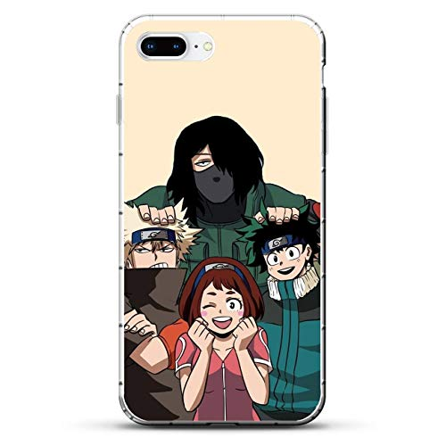 QNNN Transparent Silicone TPU Shockproof Clear Anti-Yellowing Coque Case for Apple iPhone 7 Plus/8 Plus-My Hero-Academia Boku-Deku 8