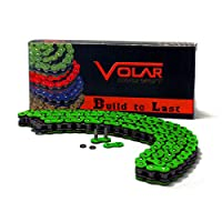 Volar Oリング オートバイチェーン 拡張スイングアーム用 グリーン 520×150リンク用