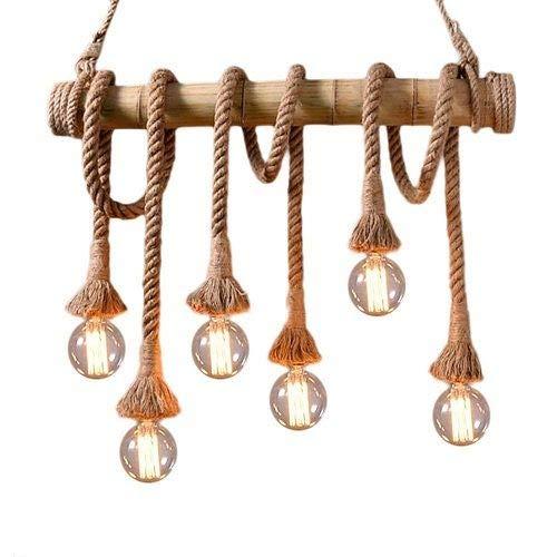 CABLEPELADO Lampara cuerda colgante Bamboo E27