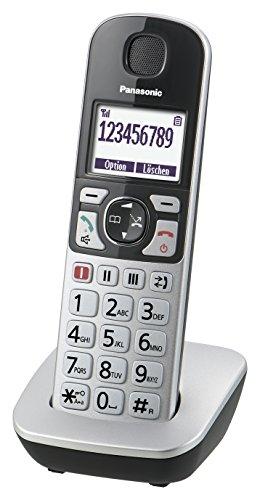 Panasonic KX-TGE510GS Seniorentelefon mit Notruf, Großtastentelefon, schnurlos, silber-schwarz