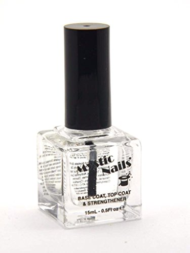 MYSTIC NAILS Base Coat Top Coat Strengthener Nail Hardener 15ml - 0.5 fl oz