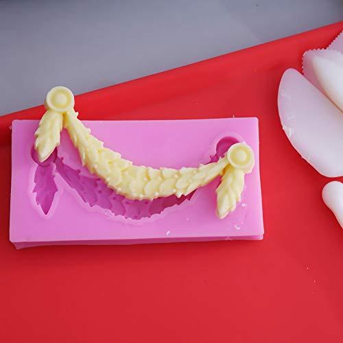 VIOYO Reel taart grens siliconen reliëf bloem fudge taart decoratie tool taart chocolade lijm klei snoep schimmel