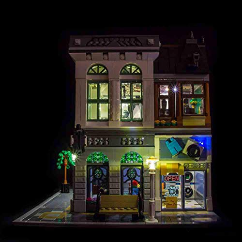 12che Batteriebetriebenes LED Beleuchtungsset für Lego Brick Bank 10251 - LED Included Only, No Lego Kit