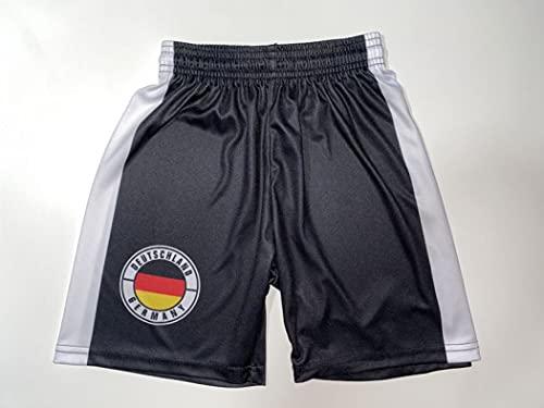 Spielfussballshop Deutschland Hose Schwarz Kinder Grösse 110 Trikots im Shop