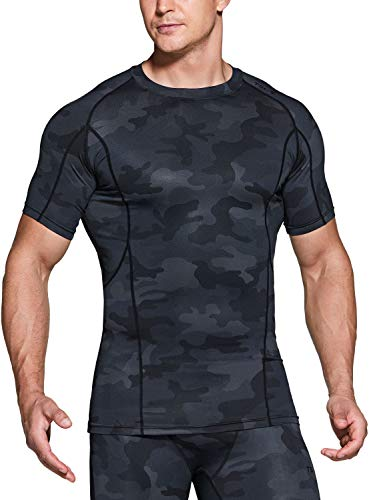 TSLA Dri Fit - Camiseta interior de compresión de manga corta para hombre, Hombre Mujer...