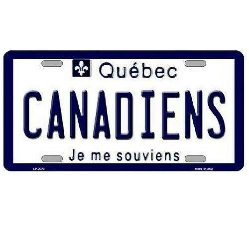 TND Montreal Canadiens Quebec Hintergrund Neuheit Metall Nummernschild Schild 15,2 x 30,5 cm
