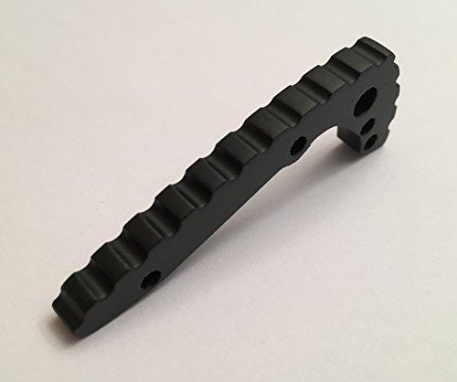 Matte Black Titanium Back Spacer For Emerson CQC-7 Knife