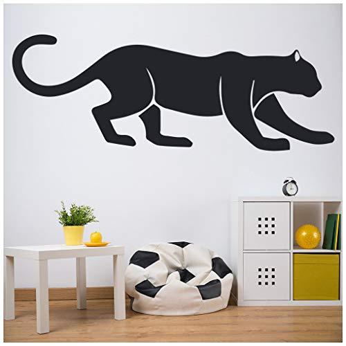 azutura Stalking Panther Wandtattoo Dschungel Tiere Wand Sticker Große Katzen Kinder Wohnkultur verfügbar in 5 Größen und 25 Farben Mittel Schwarz