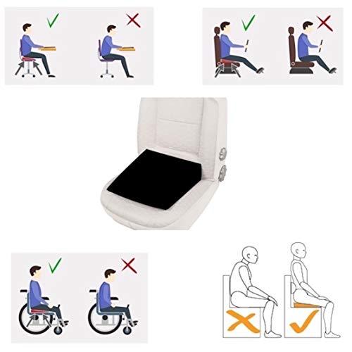 Orthopädisches Auto-Keilsitzkissen, schmal, für Fahrer, Bürostuhl, Rollstühle, Rückenstütze Steißbein zur Linderung von Lendenwirbelsäulen