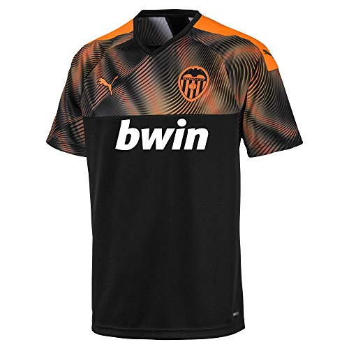 PUMA VCF Away Shirt Replica Maillot, Hombre, Black-Vibrant Orange, M