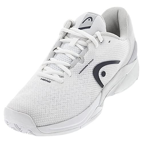 HEAD WHGR Revolt Pro 3.5 Tennis Court Shoes for Men-White/Dress Blue, 9.5