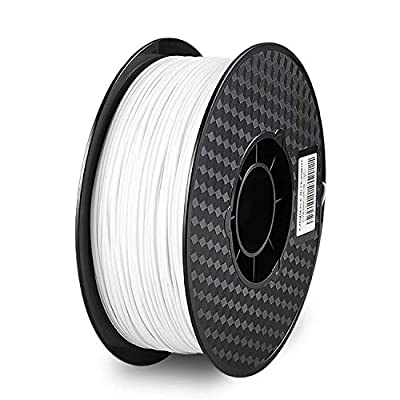 PLA 3D Printer Filament 1.75mm?Reyke PLA Filament Fit Most FDM Printer, 1kg Spool (2.2lbs), Dimensional Accuracy 1.75mm+/- 0.03mm (White)