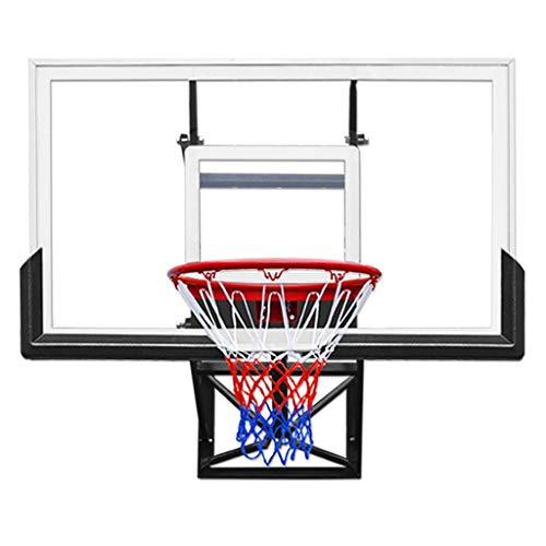 """KY Canasta Baloncesto Exterior con Tablero 54\"""" montado en la Pared Ajustable Mini Aro de Baloncesto - Negro"""