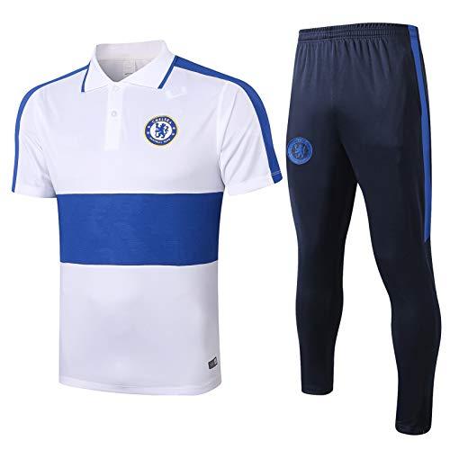 LQRYJDZ Chándal de fútbol para Hombre Spring otoño de otoño, chándal Adulto, Chelsea, Club de fútbol, Traje de Entrenamiento de Traje de Entrenamiento, Ropa de Competencia Camiseta Top + Pantalones