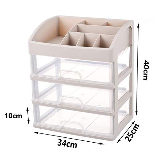 BOX Cosmétiques Boîte de Rangement Multi-Couche Type de Tiroirs En Plastique Transparent Rouge À Lèvres Bijoux Soins de La Peau Produits D'Affichage Boîte de Rangement 34 × 25 × 40Cm