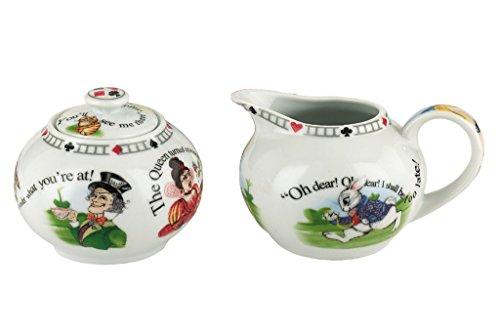 Cardew Alice in Wonderland Porcelain 7.25-Ounce Covered Sugar and Creamer Set