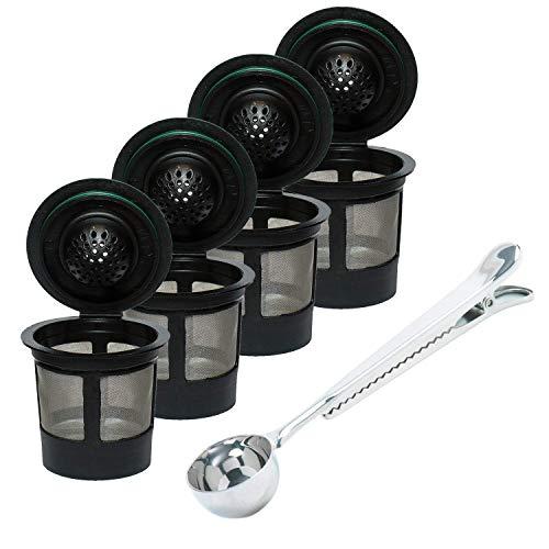 OxoxO K Cups - Filtros de café para Keurig B30 B31 B40 B41 B60 B70 K40 K45 K65 K75 Brewers con Clip para Bolsa de café, Ajuste Universal, Reutilizable, Respetuoso con el Medio Ambiente