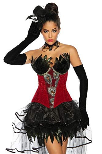 Preisvergleich Produktbild Burlesque-Corsage Corsage rot,  Größe Atixo:S