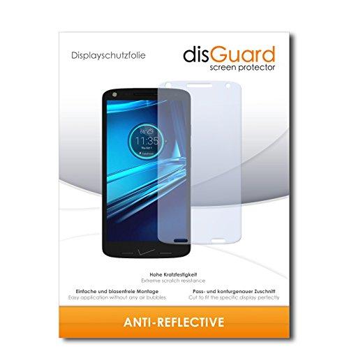 disGuard Bildschirmschutzfolie für Motorola Droid Turbo 2 [2 Stück] Anti-Reflex, MATT, Entspiegelnd, Extrem Kratzfest, Anti-Fingerabdruck - Bildschirmschutz, Schutzfolie, Panzerfolie