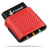 Foseal OBD2 Bluetooth, Herramienta de Diagnóstico de Coche Lector de Códigos de Avería del Escáner OBDII Compruebe las Luces del Motor para Vehículos con Protocolos OBDII