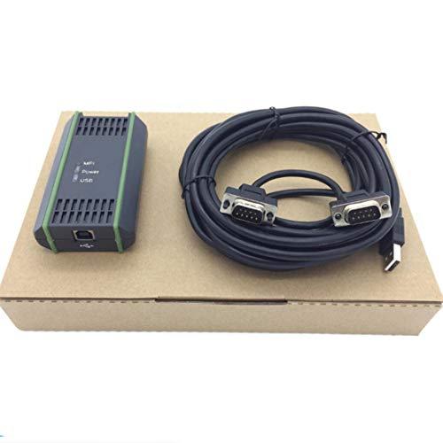 1Pack Compatible with Siemens S7-200/300/400 PLC Programmierkabel 6ES7972-0CB20-0XA0 USB-MPI MPI/PPI/DP/PROFIBUS USB MPI Adapter