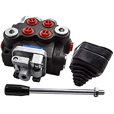 2 Spool Adjustable Hydraulic Control Valve 11GPM Double Acting Monoblock Cylinder Spool w/Joystick for Tractor Loader from Tuningsworld