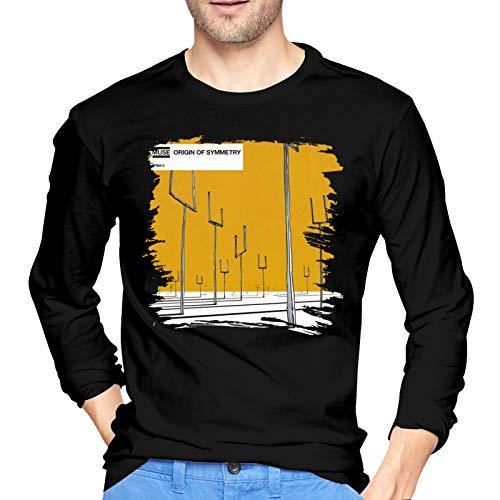 Muse Origin of Symmetry Men's T-Shirt Top Long Sleeve Casual T Shirt Medium Black