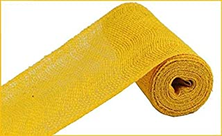 yellow poly burlap