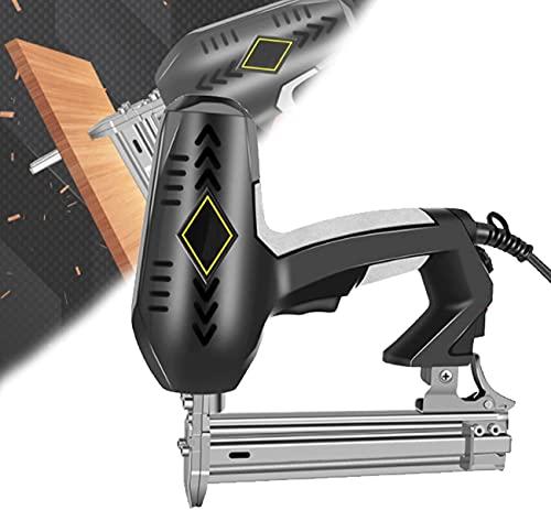 WXFCAS Pistola de grapas de carpintería, kit de clavador eléctrico con 2250W, ajuste de profundidad, kit de clavos eléctricos de fuego individual o sin contacto para techos, muebles, pisos, sofá de cu