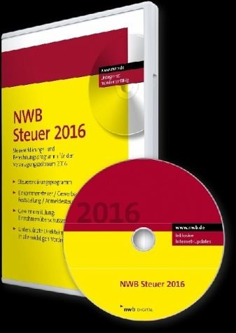 NWB Steuer 2016: Steuererklärungs- und Berechnungsprogramm für den Veranlagungszeitraum 2016. Einplatzlizenz.