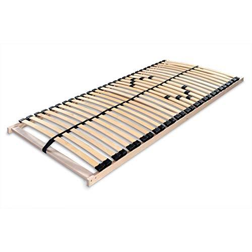 Betten-ABC Lattenrost Max 1 NV zur Selbstmontage/Lattenrahmen in 70 x 200 cm mit 28 Leisten und Mittelzonenverstellung - geeignet für alle Matratzen