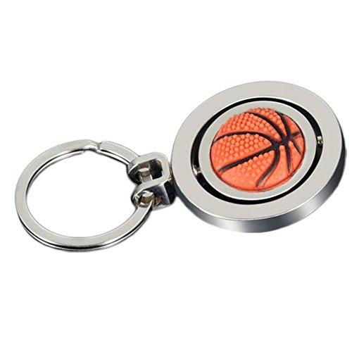 Monbedos-Schlüsselanhänger mit süßem Basketball-Anhänger, Auto-Dekoration, Charm-Anhänger, Schlüsselring, Hochzeitsgeschenk, Größe 4,8 x 4,8 cm