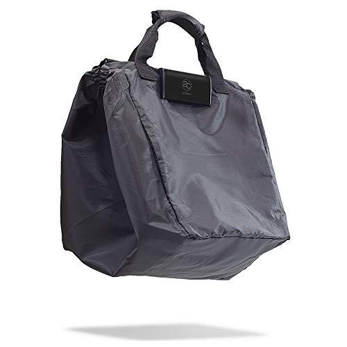 achilles Easy-Shopper Combi, Bolsa para carro de compras, Carro de compras plegable, bolsa de compras adecuada para todos los carritos de compra actuales, bolsa en negro, 54 cm x 35 cm x 39 cm