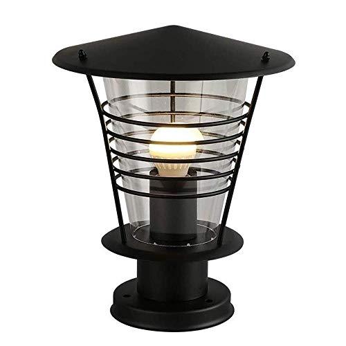 E27 Edison Post Light Para Valla De Jardín Balcón Comunitario Lámpara De Columna De Jaula Simple Y Moderna, Faros De Columna Esférica Para Exteriores, Linterna De Pared Impermeable, Pantalla De Luce