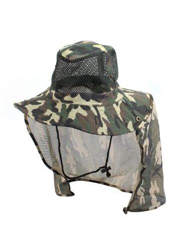 Man Conception De Maille Dessus Camouflage Imprimé Pêche Chapeau Bob Casquette Chapeau - Vert Militaire, Homme, Taille Unique