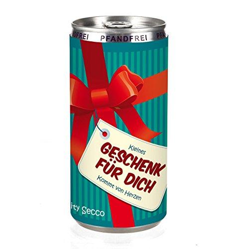 Herz & Heim® City Secco in der Dose als Dankeschön Geschenk - (weiß trocken) 200 ml