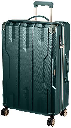 拡張機能付きスーツケース キャリーケース キャリーバッグ Lサイズ 大型 軽量4.6kg 7泊以上 TSAロック無料受託手荷物(157cm拡張時+5cm) ダブルキャスター ファスナータイプ 85L(拡張時100L)SPATHA 5109-69 グリーン