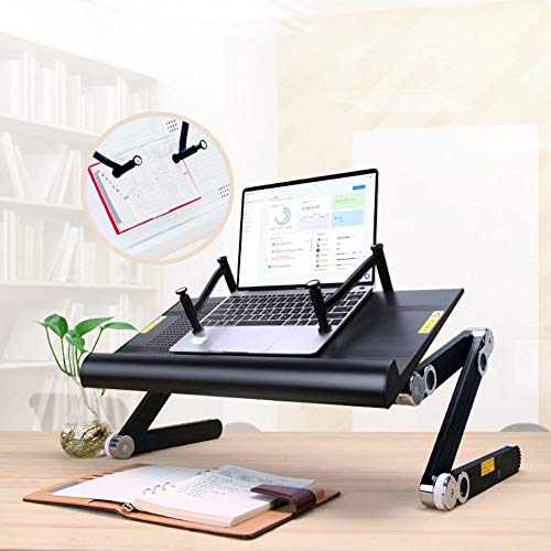 Laptop Laptop Table,Portable Notebook Stand,Adjustable Angle and Height Laptop Desk,Sofa Bed Side Table,Standing Desk Riser,Computer Table for Sofa,Couch and Floor