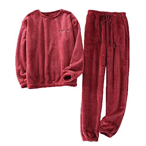 Men's Winter Thickened Flannel Pajamas Suit Men's Long-Sleeved Pajamas Plus Size Pajamas Home Service Men's Casual Pajamas